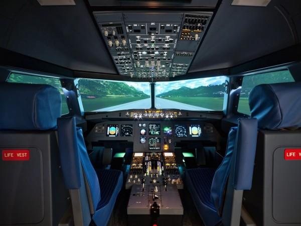 Flugzeug Simulator Frankfurt (Airbus A320 fixed)