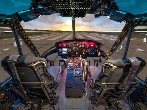 Helikopter Simulator Frankfurt (Bell UH-1 fixed)