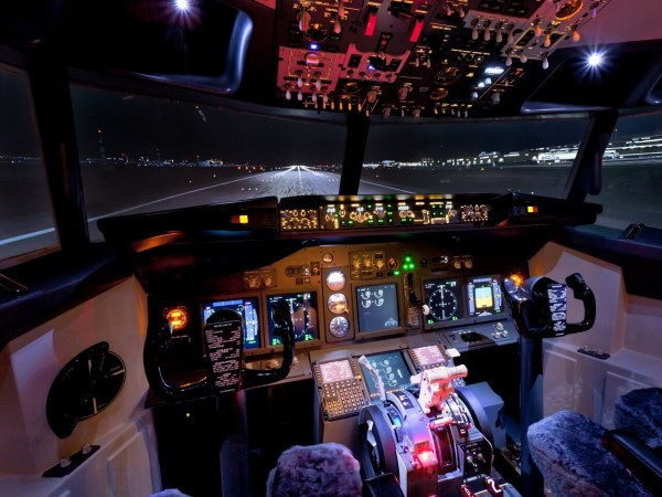 Flugzeug Simulator Frankfurt (Boeing 737 fixed)